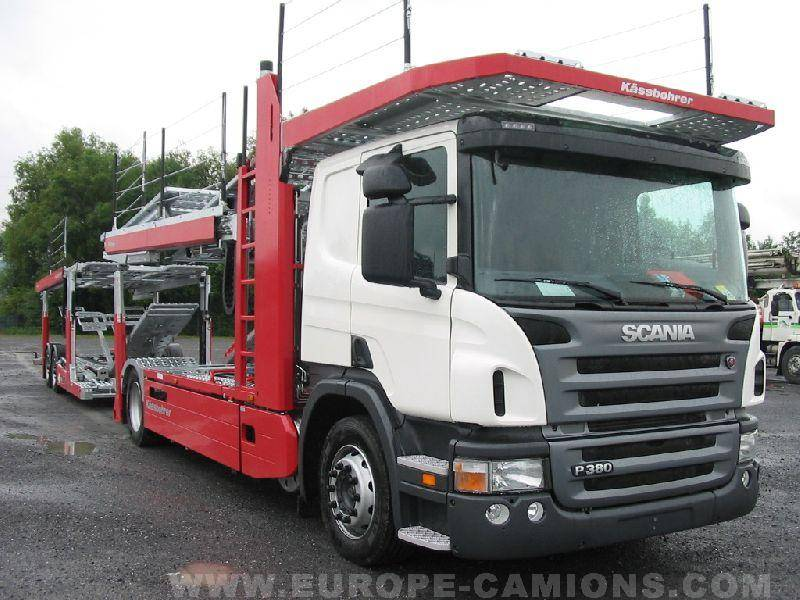camion remorque scania porte voitures 4x2 gazoil euro 4 neuf n 19325. Black Bedroom Furniture Sets. Home Design Ideas