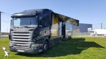 Scania plywood box trailer truck