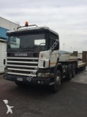 camion cu remorca pentru transport autovehicule Scania