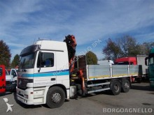 Mercedes dropside flatbed trailer truck