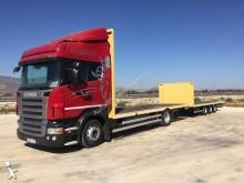 camión remolque caja abierta Scania