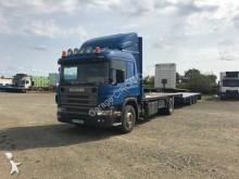 ciężarówka z przyczepą platforma do transportu słomy Scania