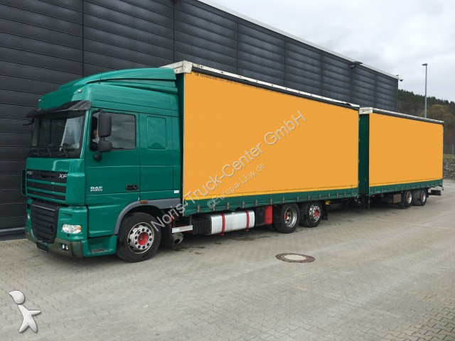 Ciężarówka z przyczepą DAF FAR 105.460 JUMBO-ZUG STAPLERHALTERUNGEN (ZV)