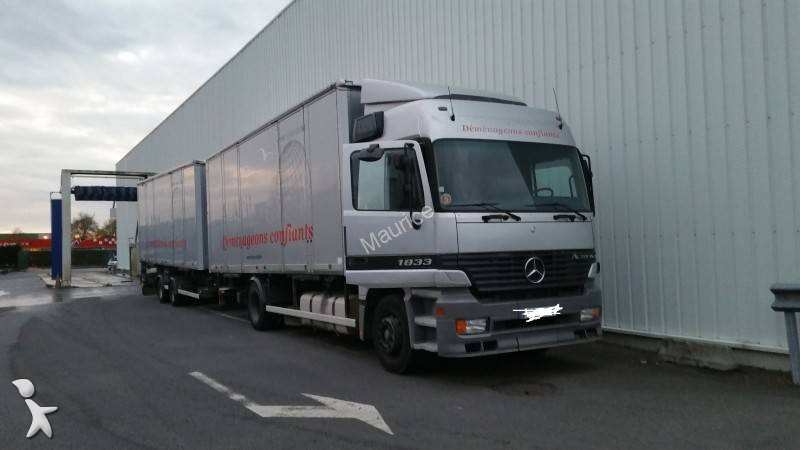 camion remorque porte containers occasion mercedes actros. Black Bedroom Furniture Sets. Home Design Ideas