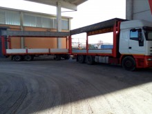 camião reboque estrado / caixa aberta porta palha Iveco