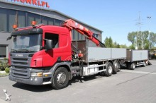Scania dropside flatbed trailer truck