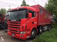 Scania hook lift trailer truck