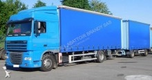 ciężarówka z przyczepą firanka DAF
