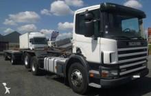 ciężarówka z przyczepą bramowiec Scania