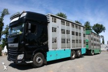 camion cu remorca transport animale DAF