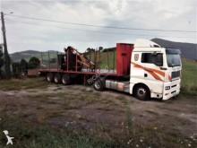 camião reboque transporte de madeira MAN