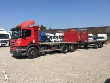 ciężarówka z przyczepą platforma standardowa Scania