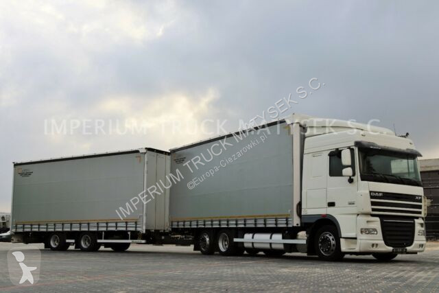 Camion remorque DAF XF 105.460/JUMBO 120M3 /VEHICULAR/ 7,75M+7,75M /