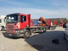 Scania flatbed trailer truck