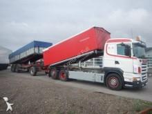 ciężarówka z przyczepą wywrotka do transportu zbóż Scania