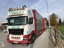 camião reboque transporte de gados bovinos Scania