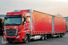 ciężarówka z przyczepą firanka Mercedes