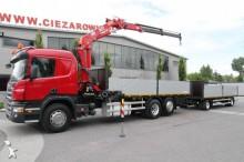 ciężarówka z przyczepą platforma burtowa Scania
