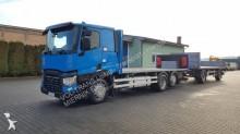 ciężarówka z przyczepą platforma Renault