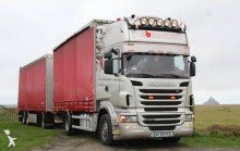 ciężarówka z przyczepą firanka Scania