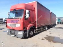 camião reboque caixa aberta com lona sistema tecto deslizante Renault