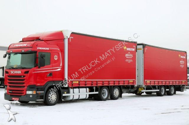 Camion remorque Scania R 410 / JUMBO 120M3 /VEHICULAR /EURO 6/ RETARDER