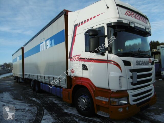Ciężarówka z przyczepą Scania R440-6X2-RETARDER-KOMPLETTZUG