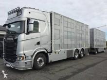 автопоезд скотовоз Scania