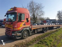 Scania heavy equipment transport trailer truck