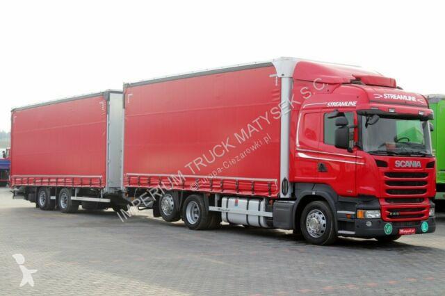 Ciężarówka z przyczepą Scania R 410 / JUMBO 120M3 / RETARDER / EURO 6 /