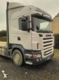 camion remorque plateau porte paille Scania
