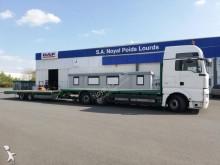 MAN heavy equipment transport trailer truck