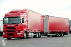 Scania tautliner trailer truck
