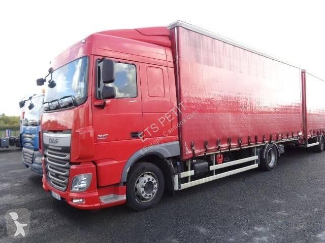 Bekijk foto's Vrachtwagen met aanhanger DAF