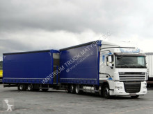 vrachtwagen met aanhanger Schuifzeilen DAF