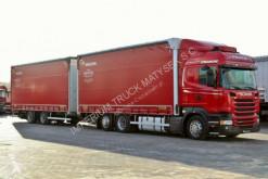 kamion s návěsem posuvné závěsy Scania