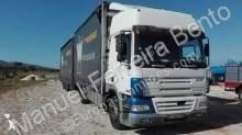 lastbil med anhænger glidende gardiner DAF