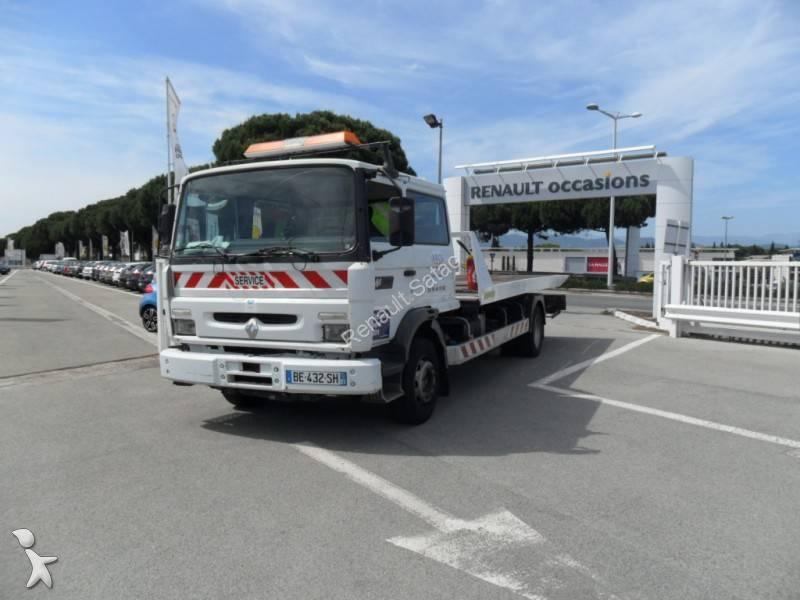 camion remorque renault porte voitures gamme m 230 gazoil occasion n 577395. Black Bedroom Furniture Sets. Home Design Ideas
