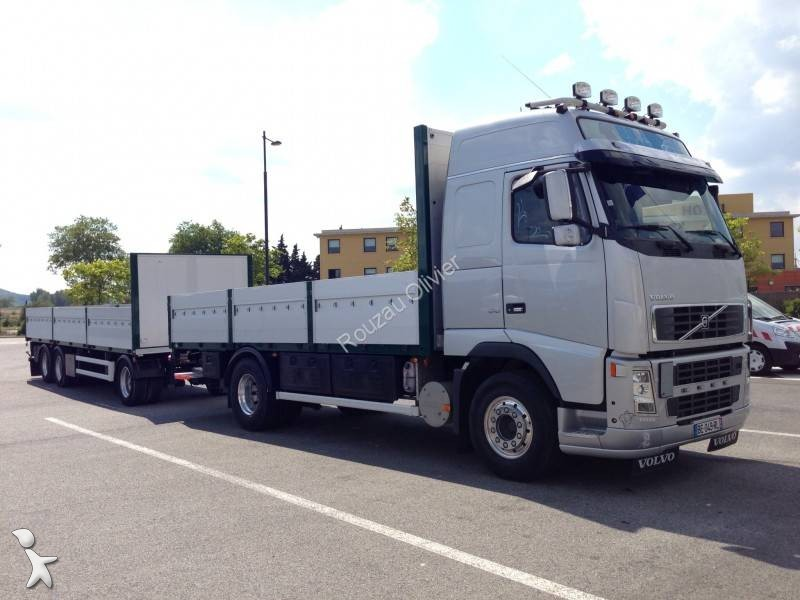 camion remorque volvo plateau ridelles fh16 610 4x2 gazoil. Black Bedroom Furniture Sets. Home Design Ideas