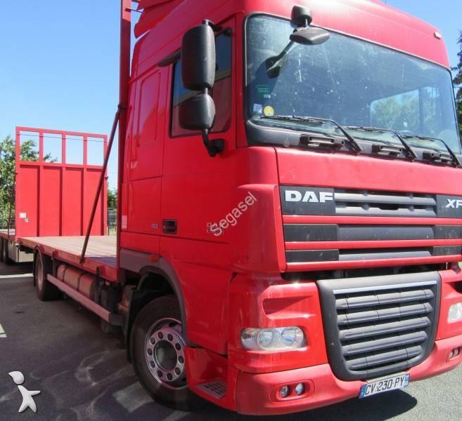 camion remorque daf plateau xf105 fa 460 gazoil euro 5 occasion n 2090358. Black Bedroom Furniture Sets. Home Design Ideas