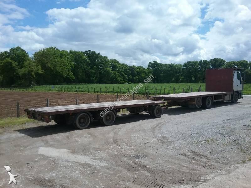camion remorque iveco plateau porte paille eurostar 240e47