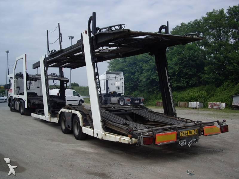 Camion remorque scania porte voitures r 124r420 4x2 gazoil - Remorque porte voiture double essieux occasion ...