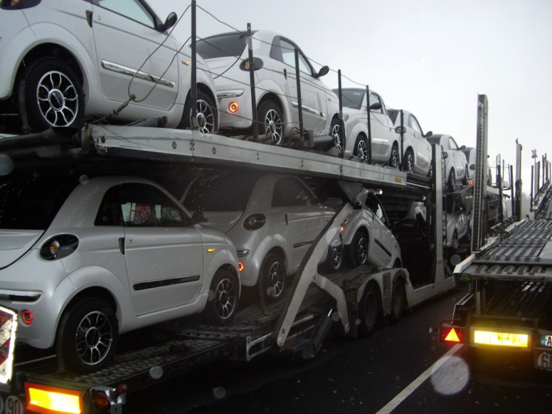 camion remorque daf porte voitures cf85 460 4x2 gazoil