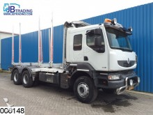 ensemble routier Renault Kerax 520 Dxi EURO 5, 6x4, Airco, wood transport