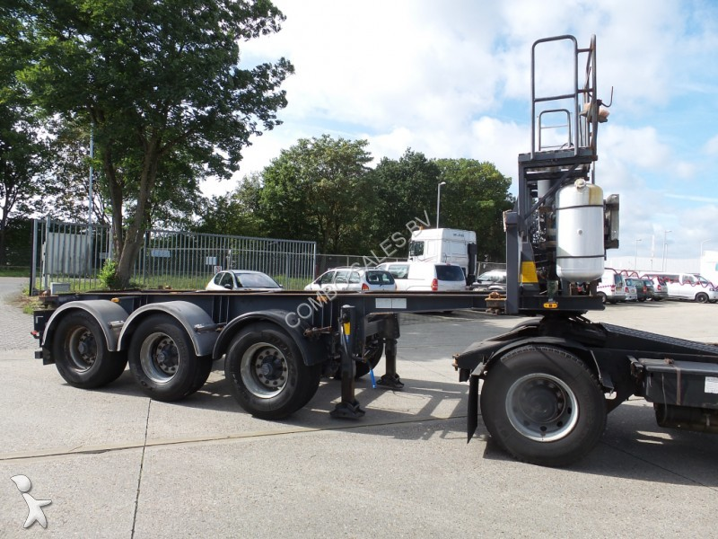 Used Tractor Trailers : Used n a container tractor trailer ft tipping