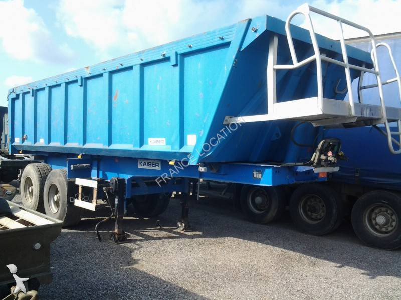 used robuste kaiser tipper semi trailer kaiser semi remorque benne 2 axles n 1067615. Black Bedroom Furniture Sets. Home Design Ideas