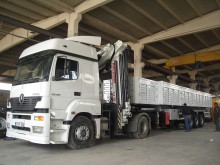 Lider FLATBED SEMI TRAILER WITH CRANE semi-trailer