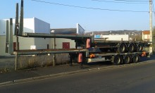 semirremolque caja abierta transporta gas usado