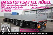 semirimorchio Kögel SN24 /BAUSTOFFSATTEL 800 mm BW / 160 x rungent.