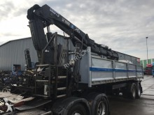 semi remorque ATM 2AS KIPPER TRAILER MET HIAB 244-3